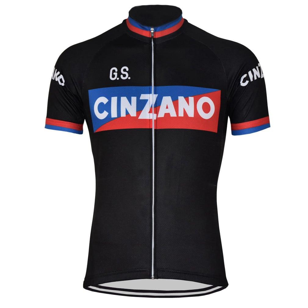 maillot cyclisme vintage noir vélo cinzano eroica