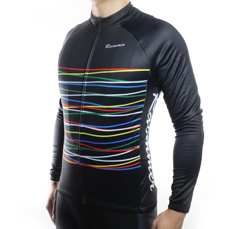 maillot cyclisme vélo manches longues mi-saison laser