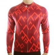 maillot cyclisme vélo manches longues mi-saison rouge