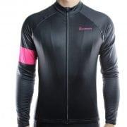 maillot cyclisme vélo manches longues mi-saison noir rose