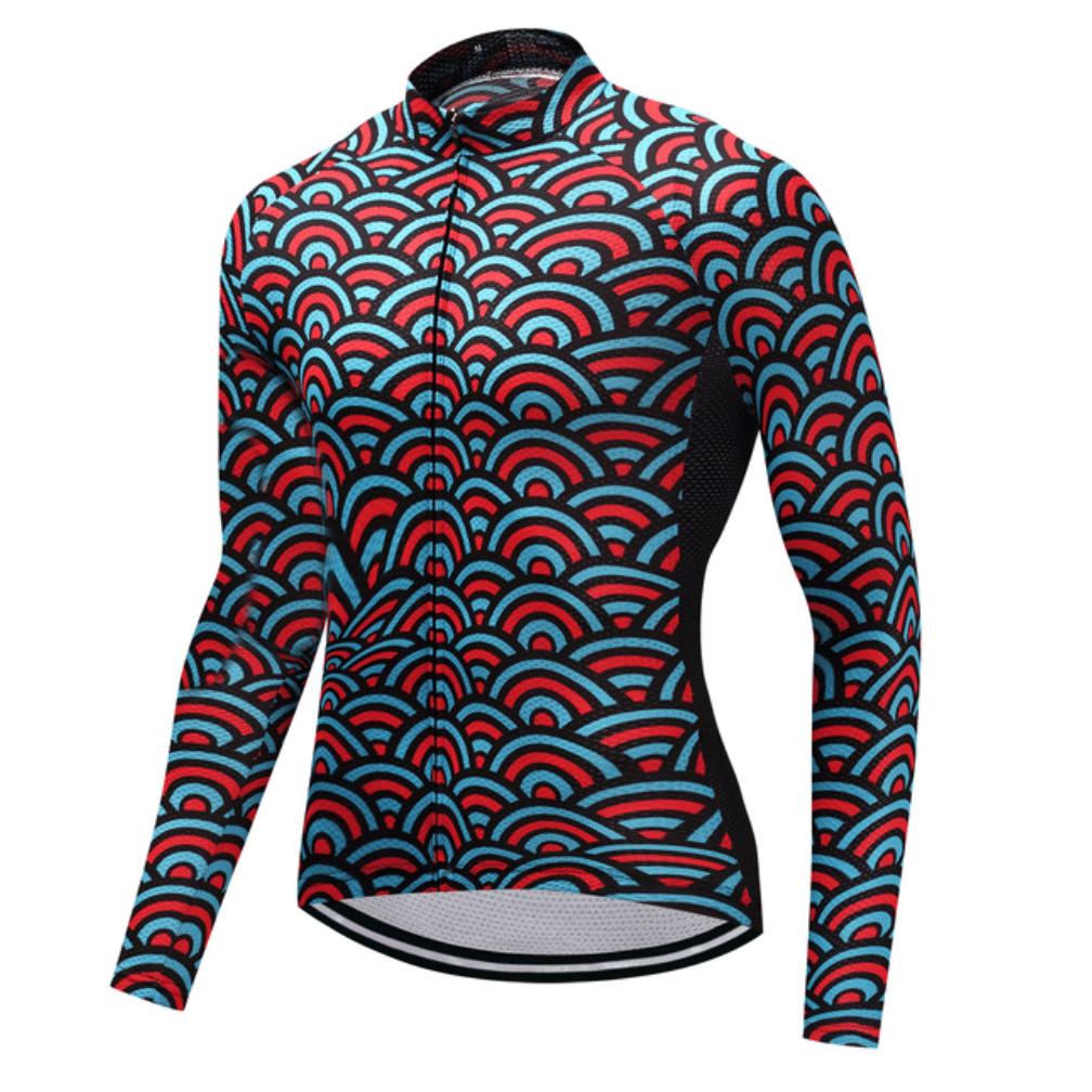 maillot cyclisme vélo manches longues mi-saison coloré