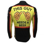 maillot manches longues cyclisme biere