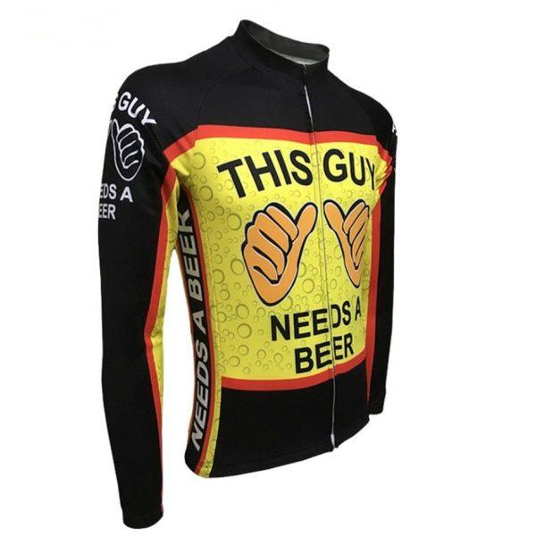 maillot manches longues cyclisme biere original