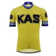 maillot cycliste vintage kas jaune sean kelly