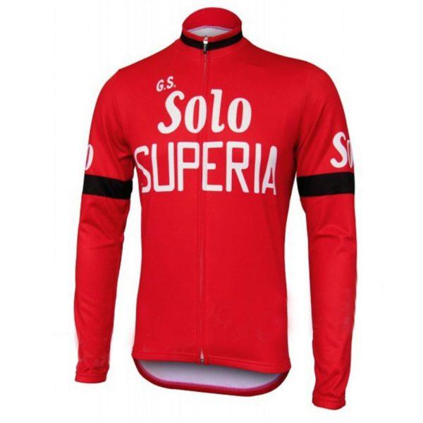 maillot cyclisme vélo manches longues solo superia
