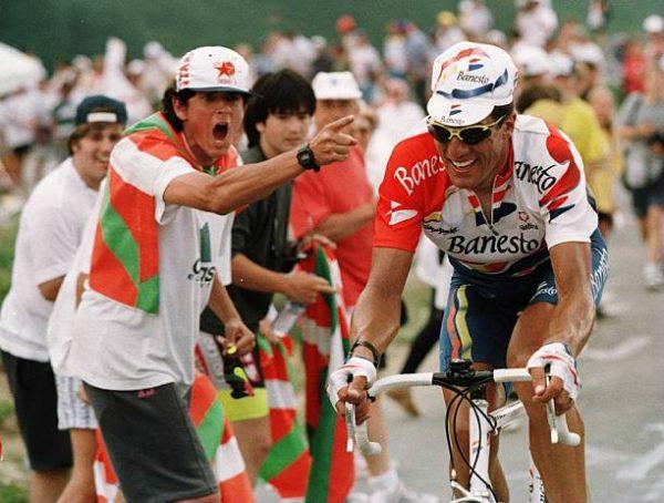 maillot vélo cyclisme rétro vintage banesto miguel indurain