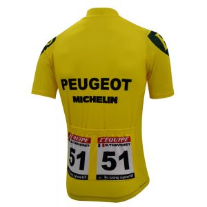 maillot peugeot michelin jaune thevenet