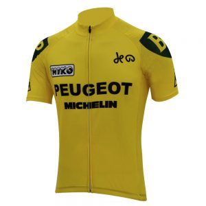 maillot jaune peugeot vintage