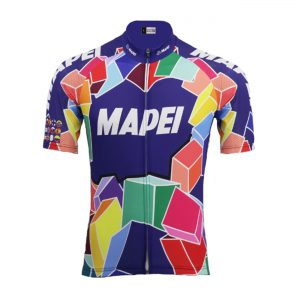 maillot cycliste vintage mapei