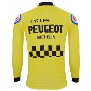 maillot jaune vintage peugeot