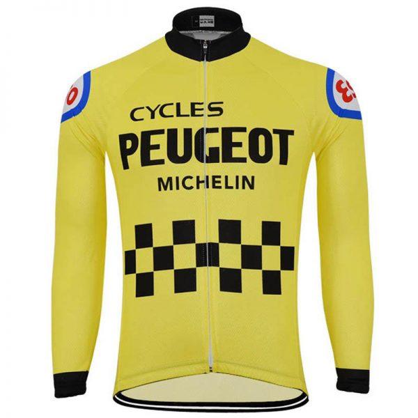 maillot cycliste vintage peugeot