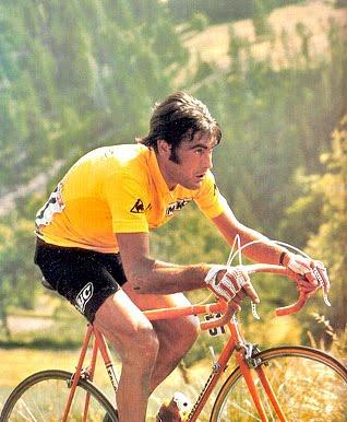 maillot velo vintage bic luis ocaña