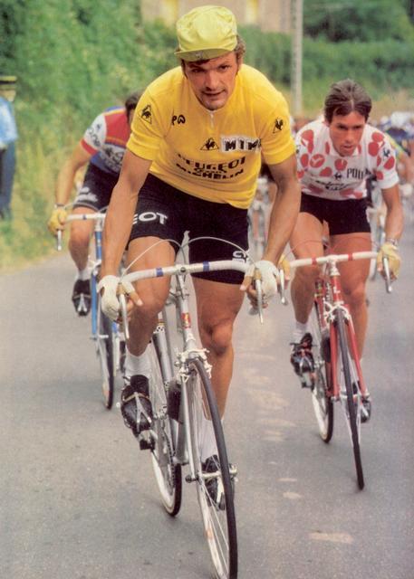 maillot peugeot michelin jaune thevenet vintage