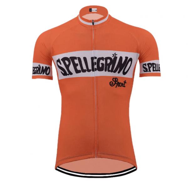 maillot cycliste vintage S.Pellegrino orange