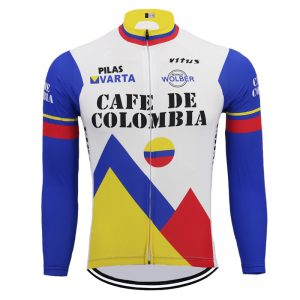 maillot cyclisme vintage cafe colombia