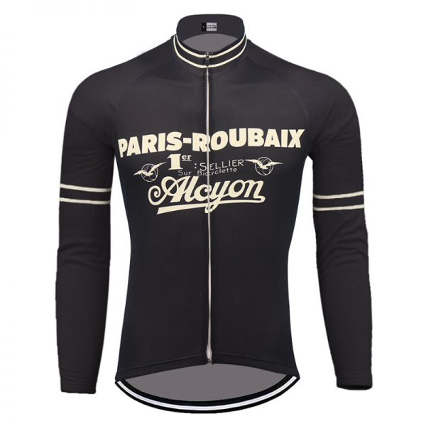 maillot cycliste manches longues vintage