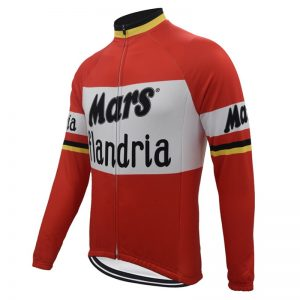 maillot cycliste manches longues mars flandria