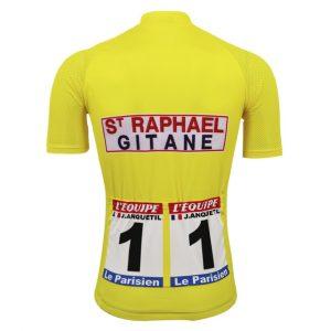maillot cycliste vintage jaune