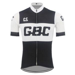maillot cycliste vintage GBC noir et blanc