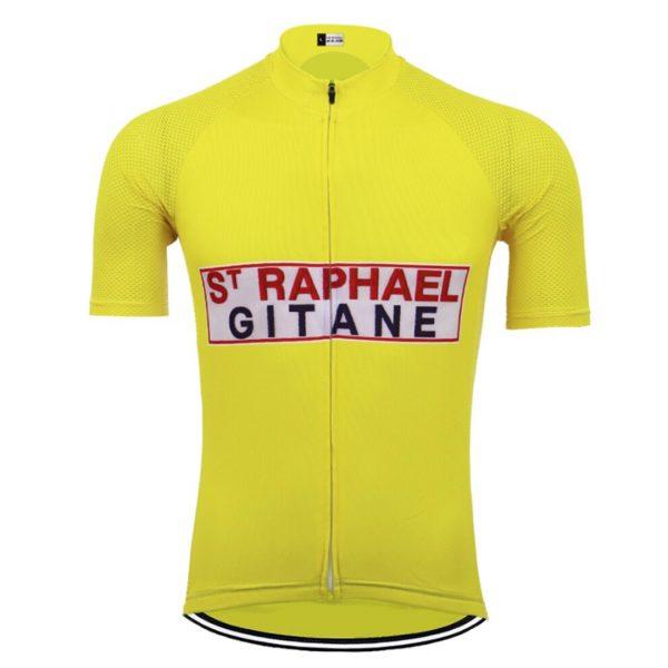 maillot velo vintage jaune